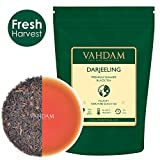 VAHDAM, Darjeeling Black Tea Leaves from Himalayas - 120+ Cups, 100% Certified Pure Unblended Darjeeling, FTGFOP1 Grade Loose Leaf Tea, Packed & Shipped Direct from Source in India, 9-Ounce Bag