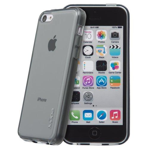 Juppa® Apple Iphone 5C Gel Silicone TPU Coque avec Film de Protection Écran - Noir / Black