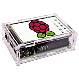 PC Hardware : 3.5 Inch TFT Touch Screen,Quimat 320x480 Resolution LCD Display with Protective Case 3Heat Sinks and Touch Pen for Raspberry Pi 3 Model B, Pi 2 Model B & Pi Model B