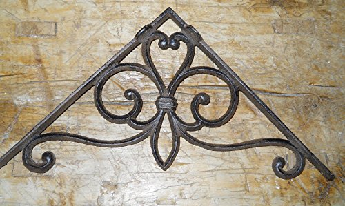 8 Cast Iron Antique Style Large VICTORIAN Brackets Garden Braces Shelf Bracket,Garden Braces Shelf Bracket RUSTIC,Wall Brackets Shelf Support for Storage by OutletBestSelling by New