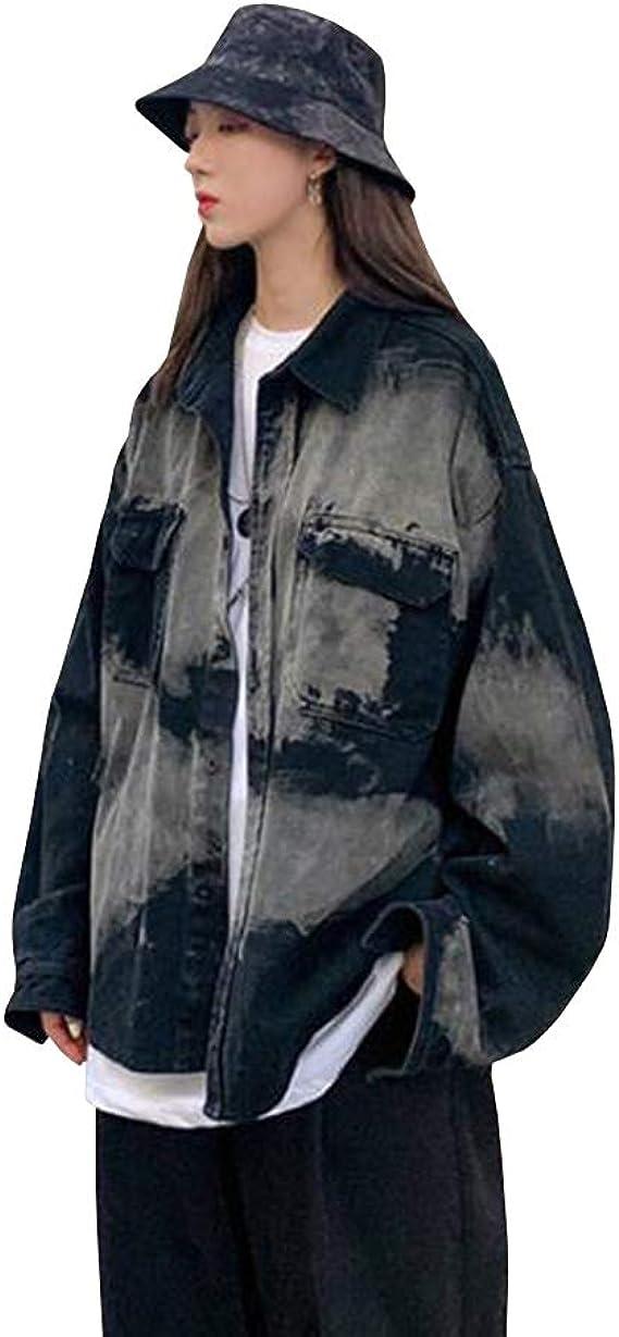Feellway アウター デニムジャケット 春秋 ジャンパー シンプル ゆったり ジャケット ストリート 韓国ファッション スタジャン カップル C0470