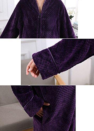 Vi Amp Vi Womens Fleece Bath Robe Plush Soft Warm Long Terry