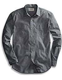 Men's Standard-Fit Long-Sleeve Chambray Shirt