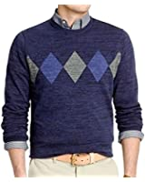Van Heusen Argyle Crewneck Sweater Size 2XL Blue Black Iris