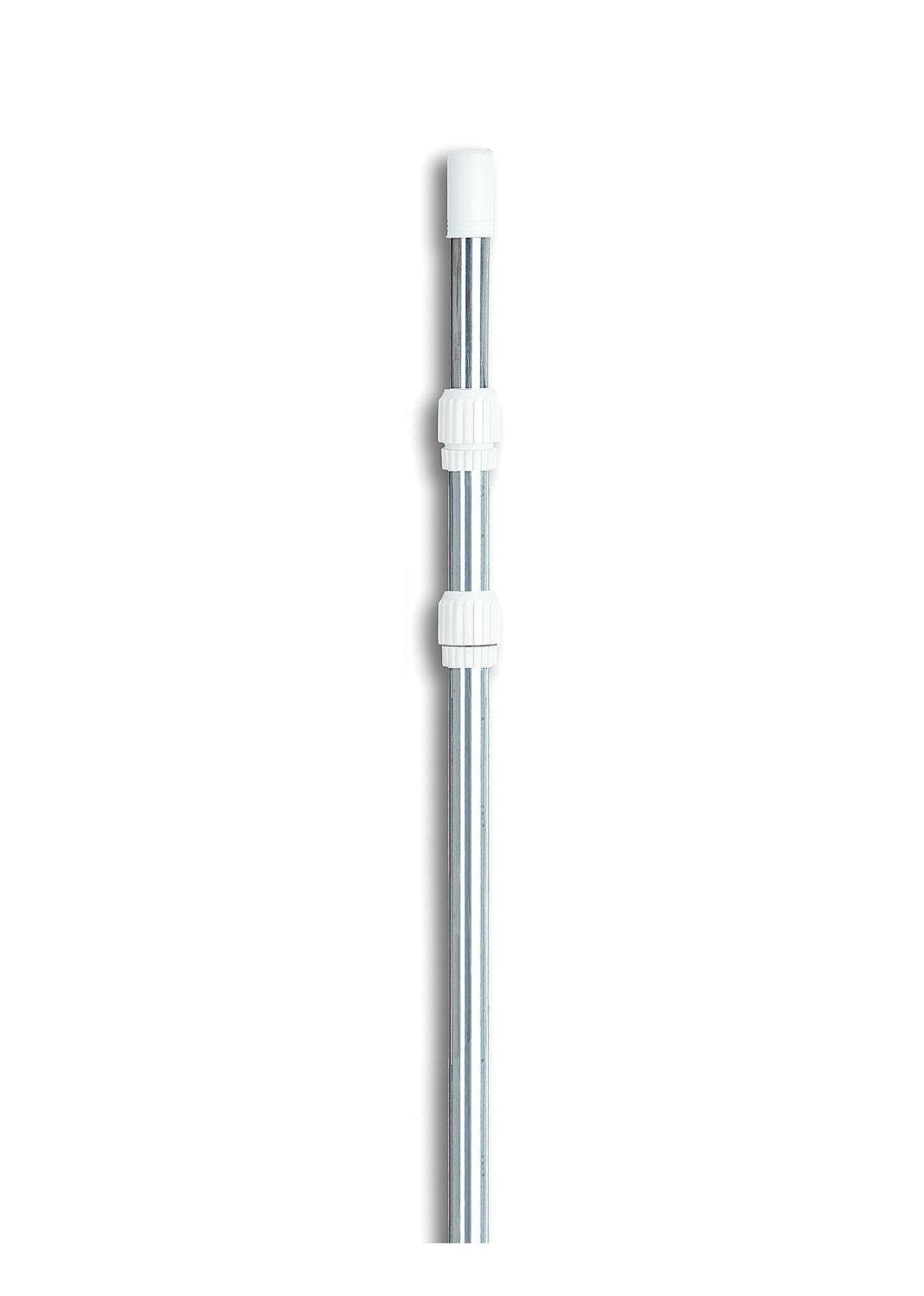 5-15 ft Adjustable Silver Aluminum Swimming Pool Telescopic Pole for Vacuums & Skimmers