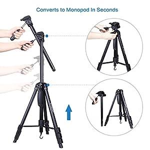 Tripod 70 Inches Professional Digital SLR Camera Aluminum Tripod Monopod for SLR DSLR Canon Nikon Sony DV Video with Carry Bag by Camopro