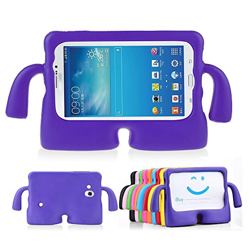Lioeo Galaxy Tab 3 Kids Case 7.0 Tab 3 Lite Back Case for Children Carrying Handle Light Weight (Samsung Tablet 3 8 Cases)