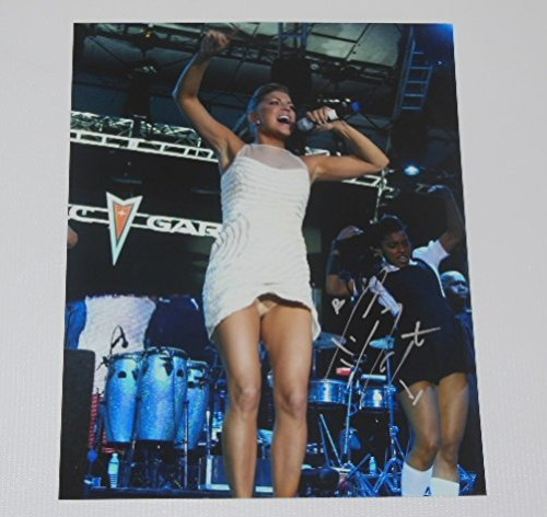Black Eyed Peas Elephunk Sexy Fergie Stacy Ferguson Authentic Signed Autographed 8x10 Glossy Photo Loa (Blu Ray Eyed Black Peas)