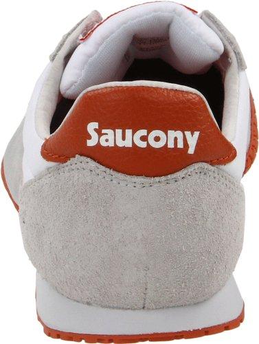 Saucony Original Mens Kula Klassiska Sneaker Vit / Orange