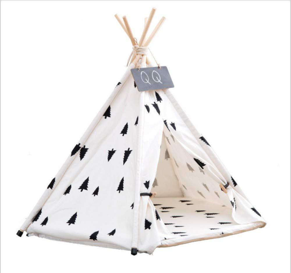 50x50x60cm GZDXHN Kennel collapsible pet tent breathable pine pet pet mat large dog supplies