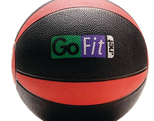 SKB Family Gofit Medicine Ball (8Lbs; Black & Red) medicine pebble Brook Black & Red