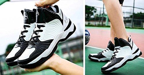 Jiye Prestanda Sportskor Mens Basket Mode Sneakers Svart Vit