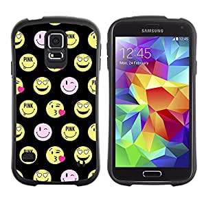 LASTONE PHONE CASE / Suave Silicona Caso Carcasa de Caucho Funda para Samsung Galaxy S5 SM-G900 / happy smiley face funny emoticon