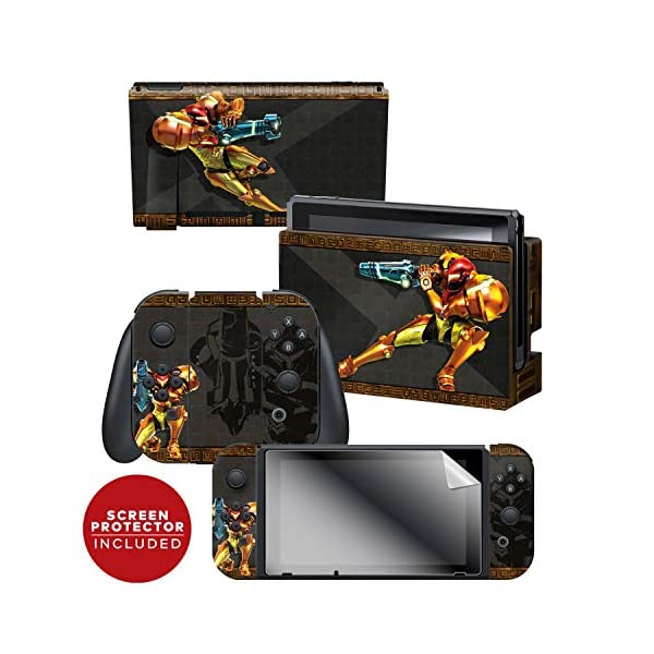 "Controller Gear Officially Licensed Nintendo Switch Skin & Screen Protector Set - Metroid - ""Samus"" - Nintendo Switch 1"