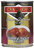 Evanger'S Super Premium For Dogs Whole Chicken Thighs, 12 Pack For Sale