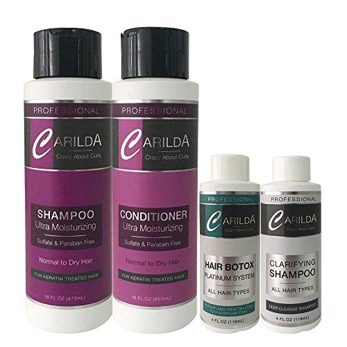 Carilda Hair Botox Platinum System 4oz KIT