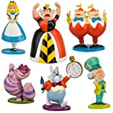Disney Alice in Wonderland Figure Play Set -- 6-Pc. (200647) - Glittered units