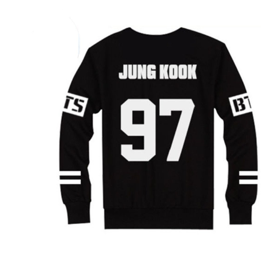 amazon com bts bangtan boys black hoody sweater pullover