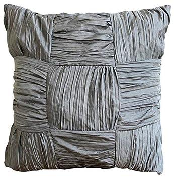 Amazon.com: Diseñador Gris almohadas, cojines Checkered ...