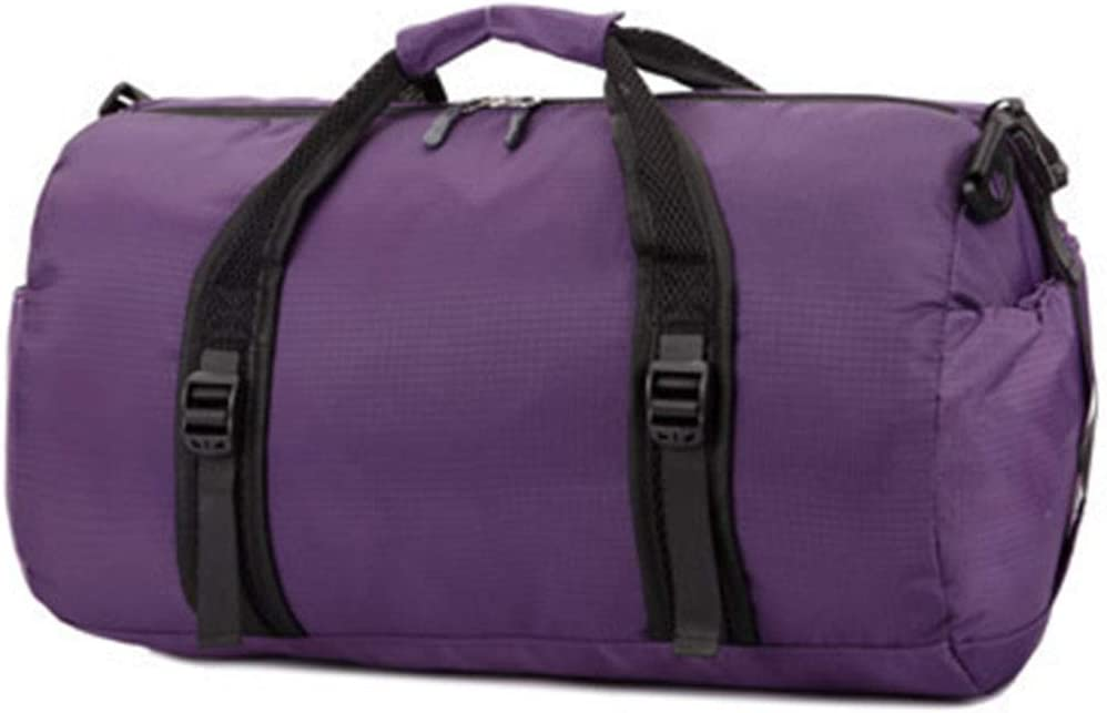 Saalising Outdoor Travel Sports Bag Large-Capacity Handbag /  Round Bucket Waterproof Travel Bag Basketball Bag Color : Purple