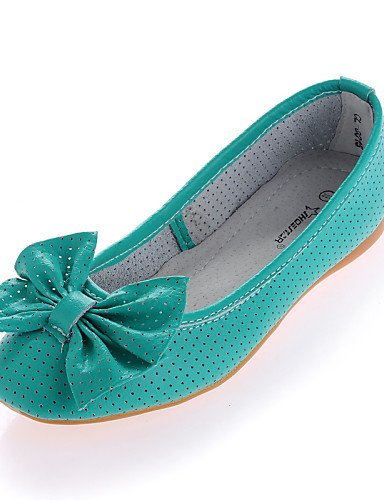 PDX/ Damenschuhe - Ballerinas - Lässig - Leder - Flacher Absatz - Komfort / Ballerina - Schwarz / Blau / Grün / Rosa / Weiß , light green-us8 / eu39 / uk6 / cn39 , light green-us8 / eu39 / uk6 / cn39