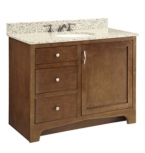 Design House 541854 1-Door 2-Drawer Vanity, Maple