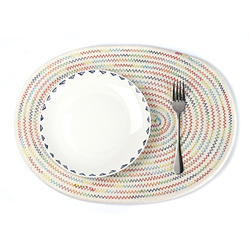 oval quilted placemats - 4