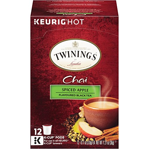 Twinings of London Spiced Apple Chai Tea K-Cups for Keurig, 12 Count (Pack of 6)