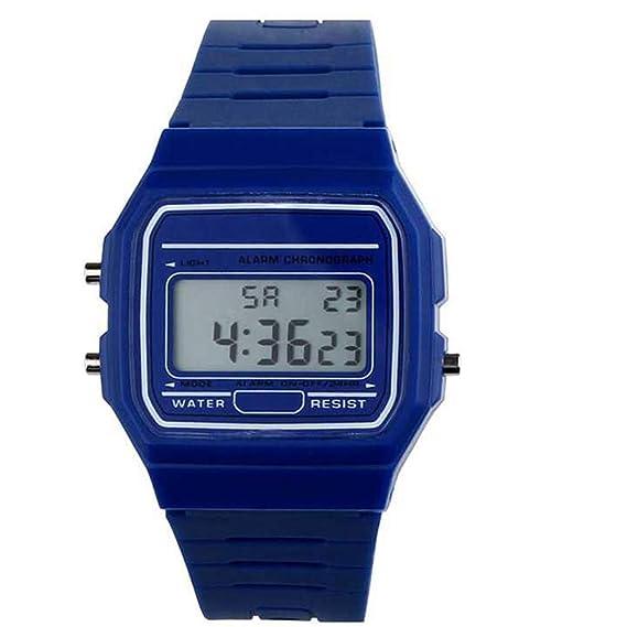 Hangrui Relojes digitales para niños, reloj deportivo multifunción HONHX A159W a todo color Reloj electrónico para estudiantes (Azul): Amazon.es: Relojes