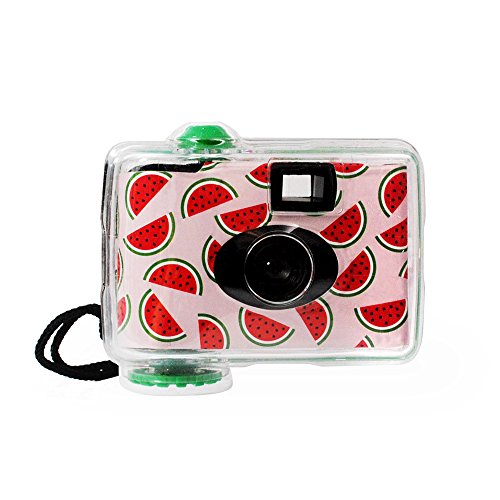 LMNT Disposable Underwater Camera, Waterproof Disposable Camera,Throwaway Camera up to 16ft with 17 exposures 35mm film (Watermelon)