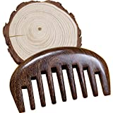 Image of Wood comb Wooden wide tooth hair comb detangler brush -Anti Static Sandalwood Scent handmad with gift package