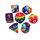 iMagitek Rainbow Polyhedral Dice Sets for DND Dungeons and Dragons Role Playing Game