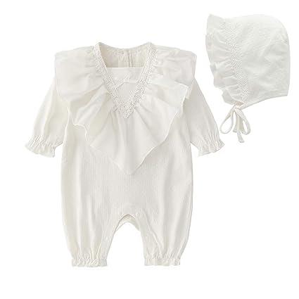 753fea5f8 Bebés de mono del algodón de manga larga del niño del mameluco lindo V- cuello