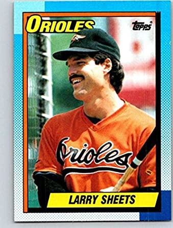a5e1f31fb Amazon.com  1990 Topps  708 Larry Sheets Mint Baseball MLB Orioles ...