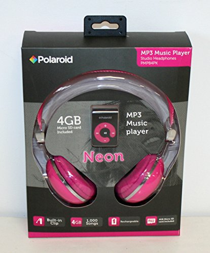Polaroid Music Player Headphones Pink