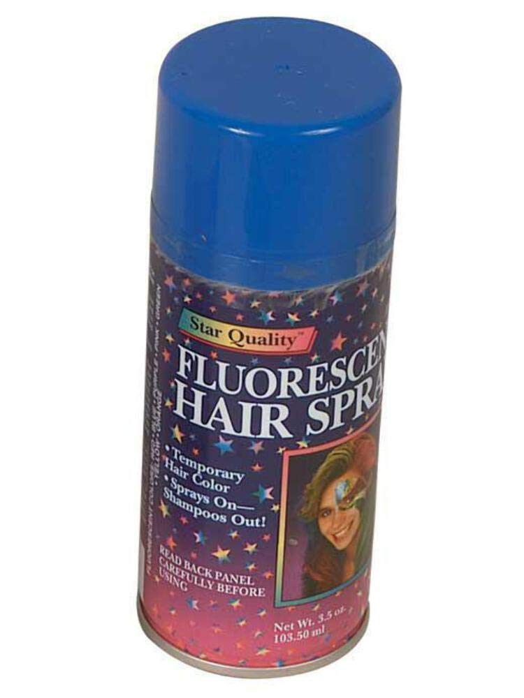 Amazon Com Spray On Wash Out Blue Hair Color Temporary Hairspray Great For Costume Or Halloween Party Concert Hair Spray Beauty