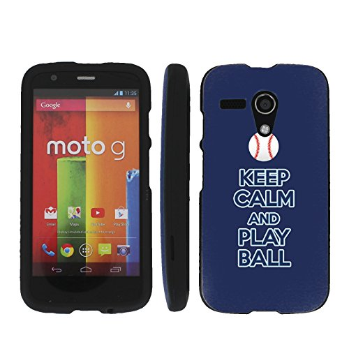 Keep Calm and Play Ball - Tampa Bay - Mobiflare Motorola Moto G (GSM 1st gen) Slim Guard Armor Black Phone Case