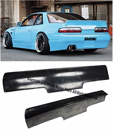 (Replacement for 1989-1994 Nissan 240SX S13 | EOS Rocket Bunny Style Fiberglass Primer Black Rear Trunk Lid Wing Spoiler SPOILER-033-FRP)