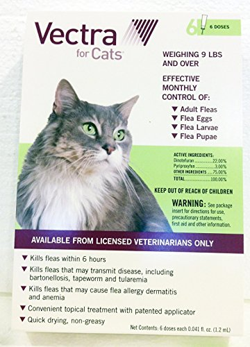 51YSWtgKLUL - Vectra Green For Large Cats Over 9 Pounds USA Version EPA Registered (Controls Fleas In All Stages) by Unknown