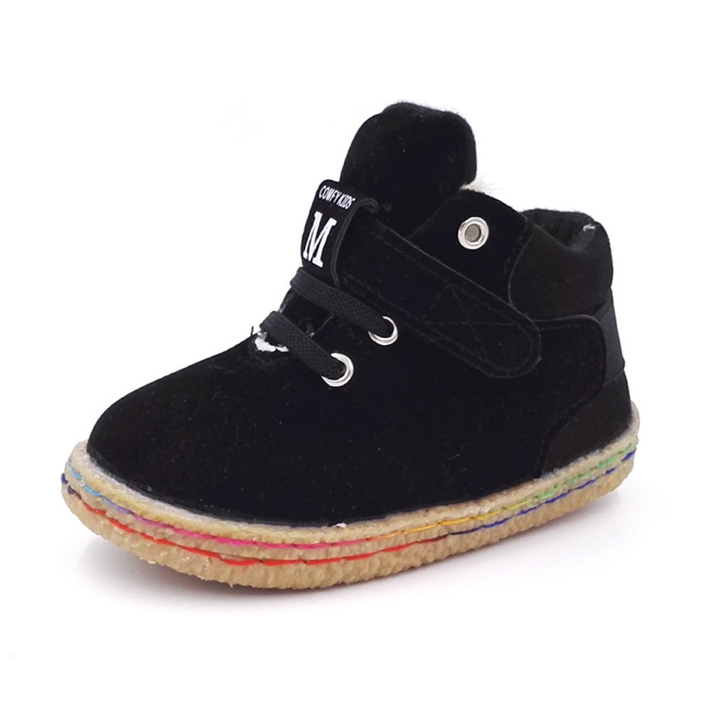COMFY KIDS Autumn Winter Boots Warm Leather Shoes Boys Girls M11