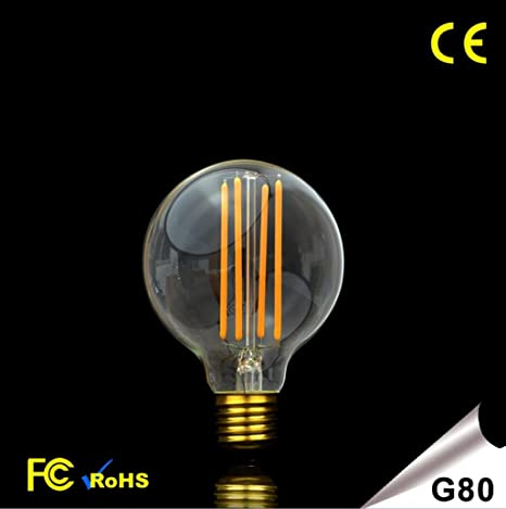rsen OOFAY LIGHT® Vintage Edison la bombilla LED regulable E27 G80 Pera 2700 K Inyección