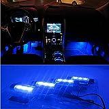 Interior Accessories Best Deals - Docooler 12V 12 LED Car Auto Interior Atmosphere Lights Decoration Lamp - Blue