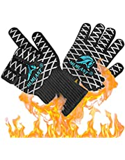 MLMLANT BBQ Cooking Grill Gloves, 932℉ Extreme Heat Resistant Gloves, EN407 Certified, Non-Slip & Premium Insulated Kitchen Oven Mitts for Baking Cooking Cutting Welding -1 Pair