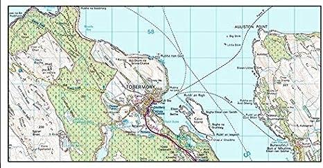 Double Side Laminated Isle of Mull Map Flat