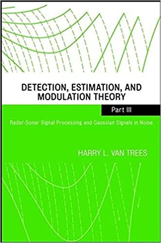 Detection, Estimation, and Modulation Theory, Part III: Radar-Sonar Signal Processing and Gaussian Signals in Noise