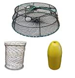 KUFA Sports (CT79+FYM400 Vinyl Coated Crab Ring Trap with Crabbing Accessory Combo