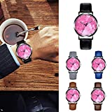 HHei_K Mens Business Creative Fashion Casual K055 Crystal Leather Sport Dial Analog Quartz Round Wrist Watch