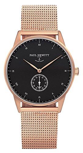 Paul Hewitt Reloj analogico para Unisex de Cuarzo con Correa en Acero Inoxidable PH-M1-R-B-4S: Amazon.es: Relojes