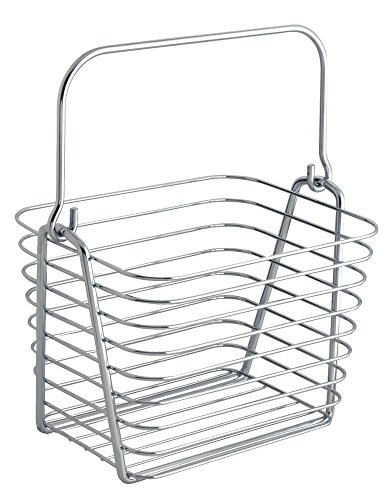 InterDesign Classico Wire Storage Organizer Basket for Bathroom, Bath Towels, Heath and Beauty Products - Small, Chrome