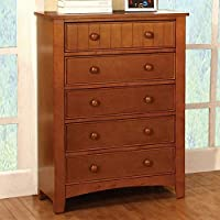 Furniture of America CM7905OAK-C Omnus Oak Chest Drawer